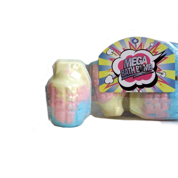 100g grenade shaped bath fizzer BOMB