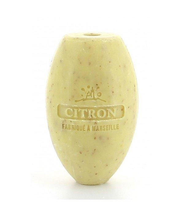 La Savonnette Marseillaise Rotating Wall-Mounted Soap -  Exfoliating Lemon