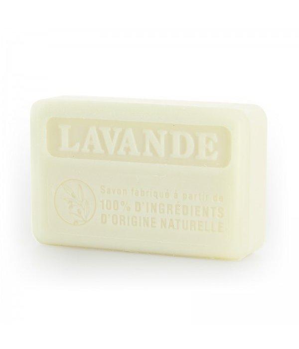 La Savonnette Marseillaise Marseille soap -  100% natuurlijk Lavender 125 g  Palm oil-free