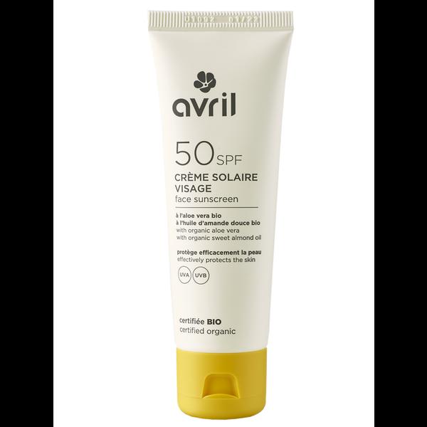 AVRIL BIO gecertificeerd Zonnebrandcrème gezicht SPF50 50ml