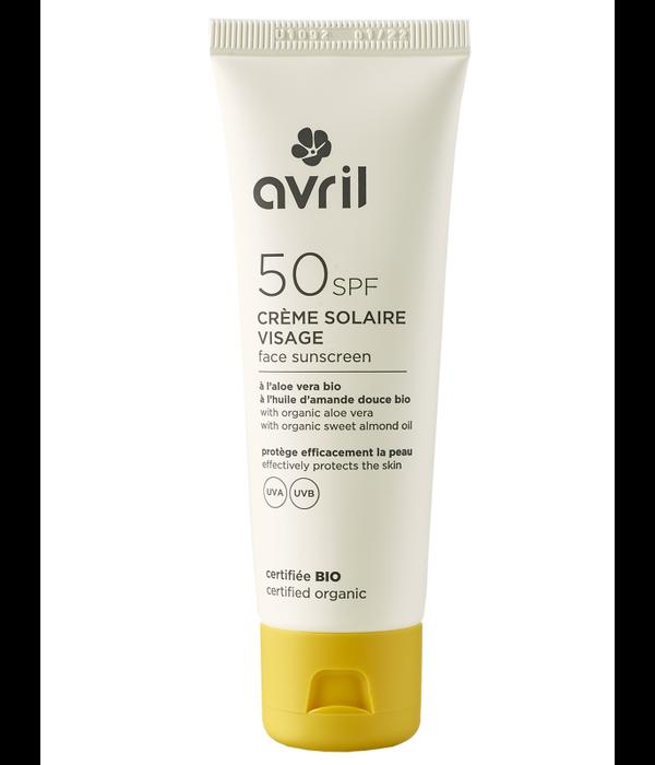 Avril Avril certified organic Face Sunscreen 50SPF 50ml