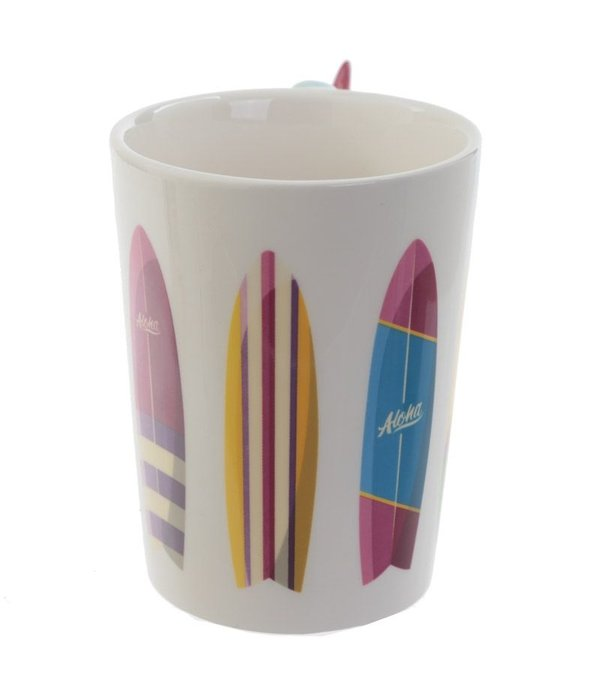 Puckator Ceramic Surf Mug with surfboard Handle