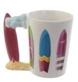 Ceramic Surf Mug with surfboard Handle