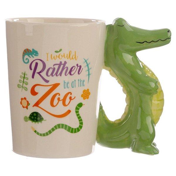 Ceramic Mug with a Crocodile Handle