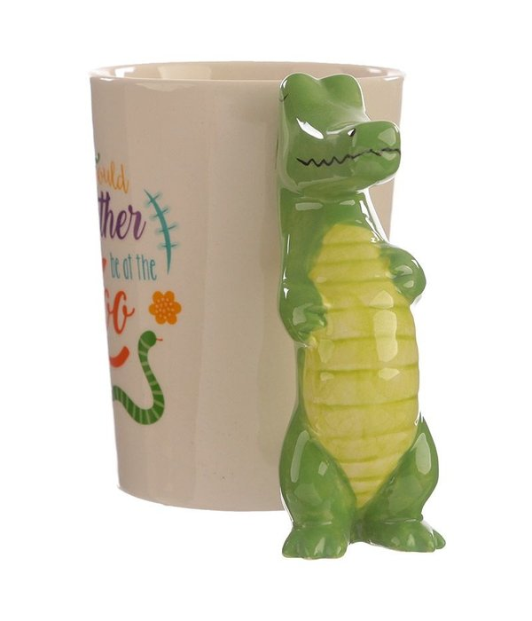 Keramiek Mok met Krokodil Handvat