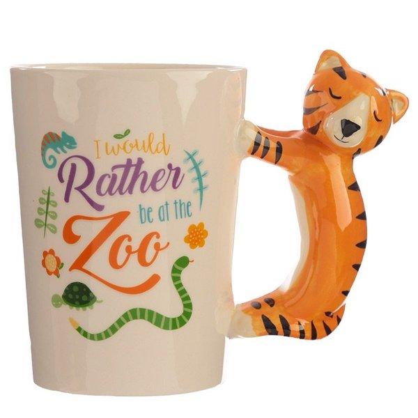 Ceramic Mug with a Tiger Handle