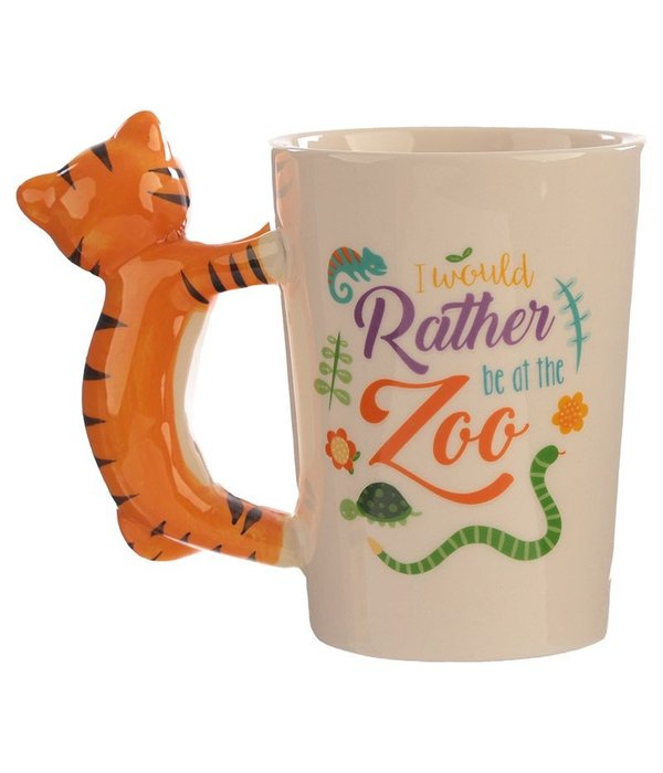 Ceramic Mug with a Tiger Handle