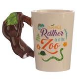 Ceramic Mug with a Monkey Handle
