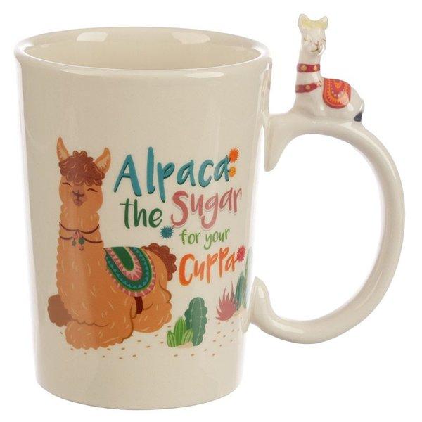 Alpaca the Sugar Handle Ceramic Mug