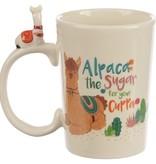 Puckator Alpaca the Sugar Handle Ceramic Mug