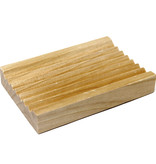 AW Home Hemu Wood Soap Dish - Groovy