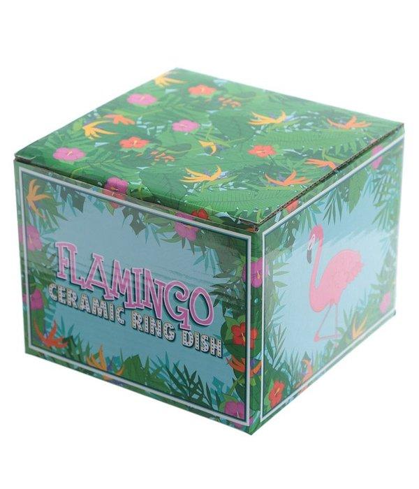 Flamingo Ringhouder & Sieradenschaaltje
