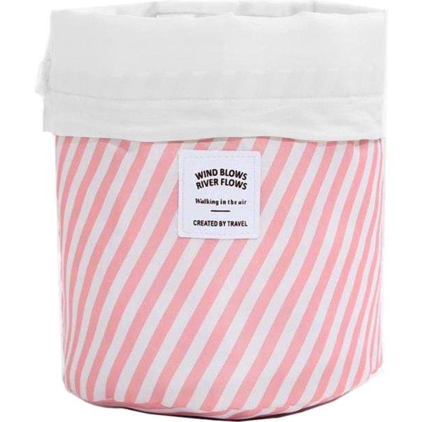 Toilettas - Roze gestreept