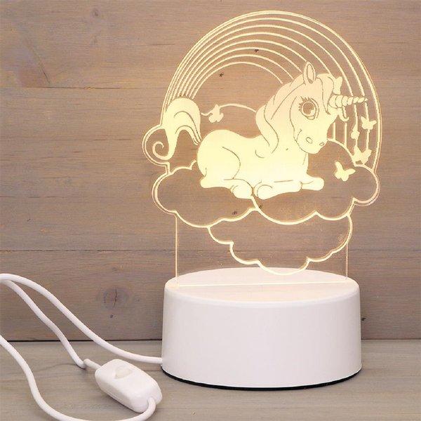 LED lamp Unicorn Rainbow