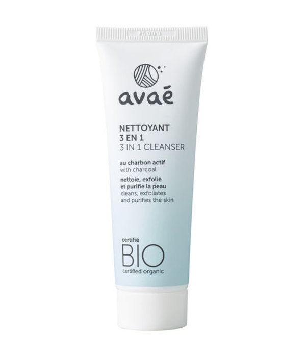 Avaé Avaé certified organic 3 in 1 Cleanser with activated carbon 50ml