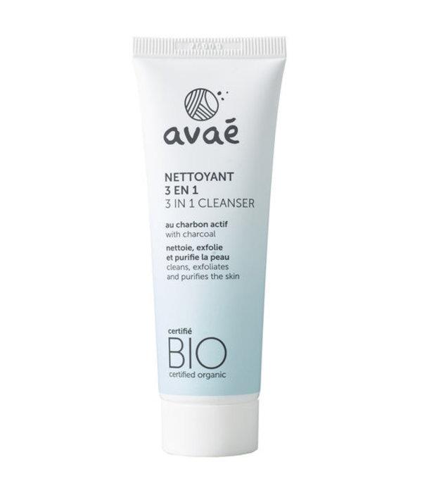 Avaé BIO gecertificeerd  3 in 1 gezichtsreiniger, scrub en masker 50ml