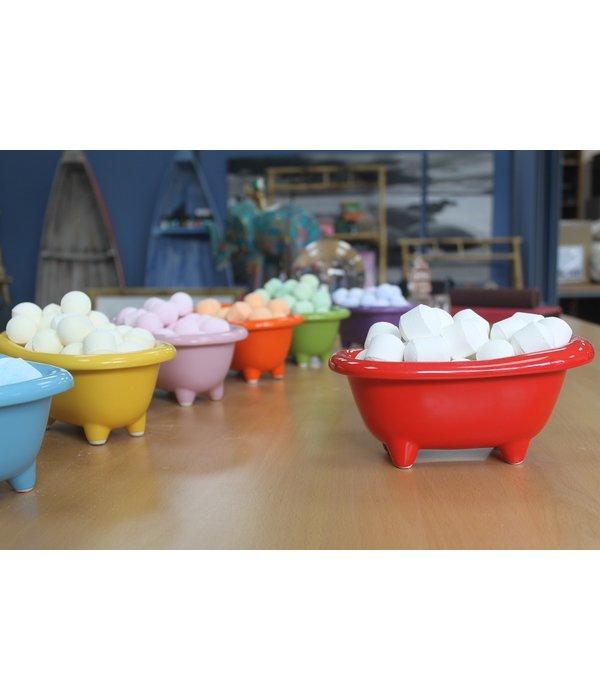 Keramische mini badkuip in diverse kleuren