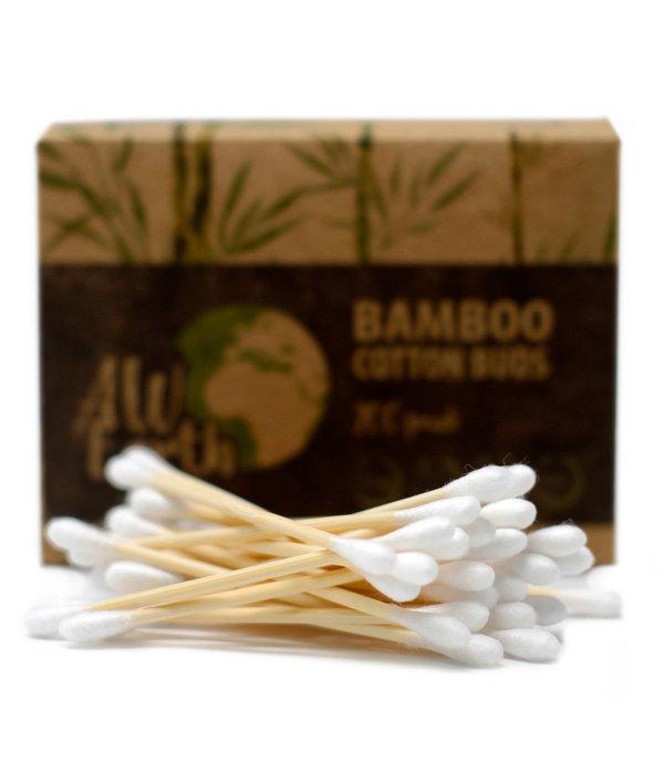 Bamboe wattenstaafjes doos met 200 stuks