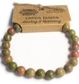AW Accessoiries Power armband - Groene jaspis