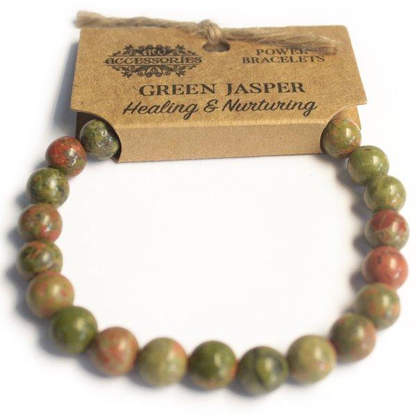 Power armband - Groene jaspis