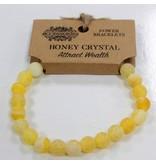 Power armband Honey Crystal