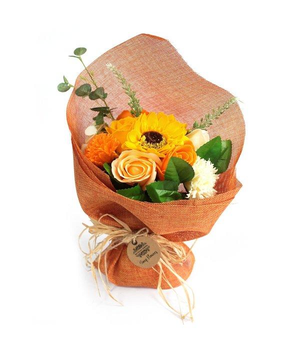 Bathroom Heaven Standing Soap Flower Bouquet - Orange - Special