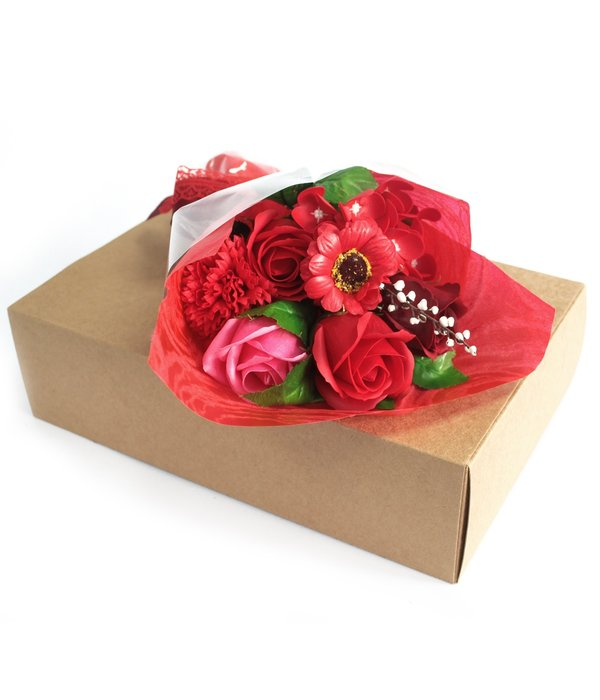 Bathroom Heaven Boxed Hand Soap Flower Bouquet - Red - Special