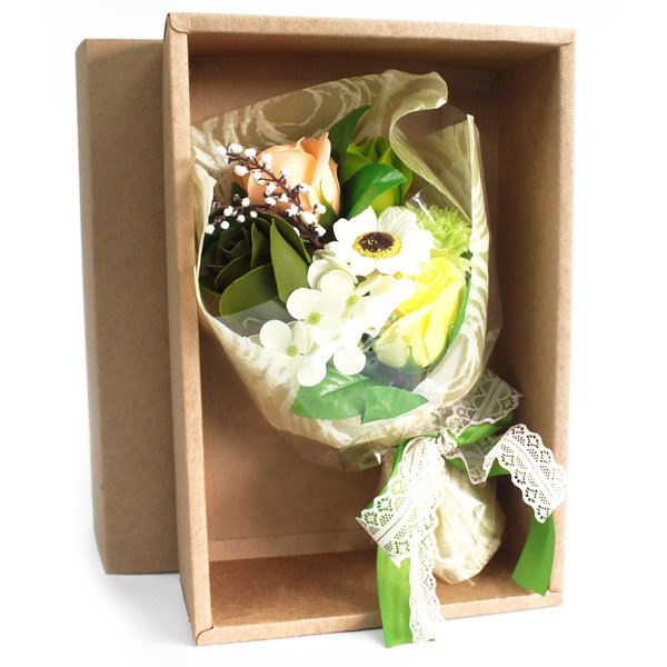 Boxed Hand Soap Flower Bouquet - Green - Special