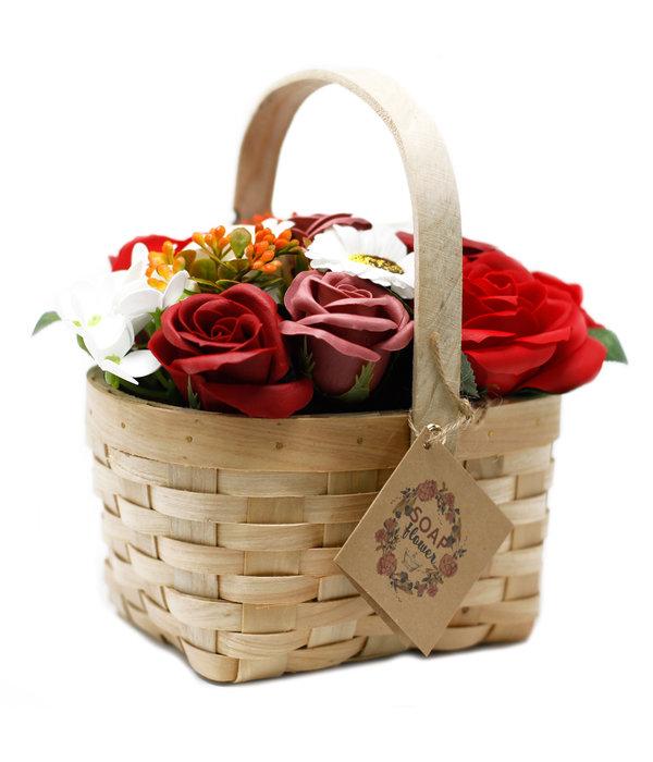 Bathroom Heaven Large Red Bouquet in Wicker Basket