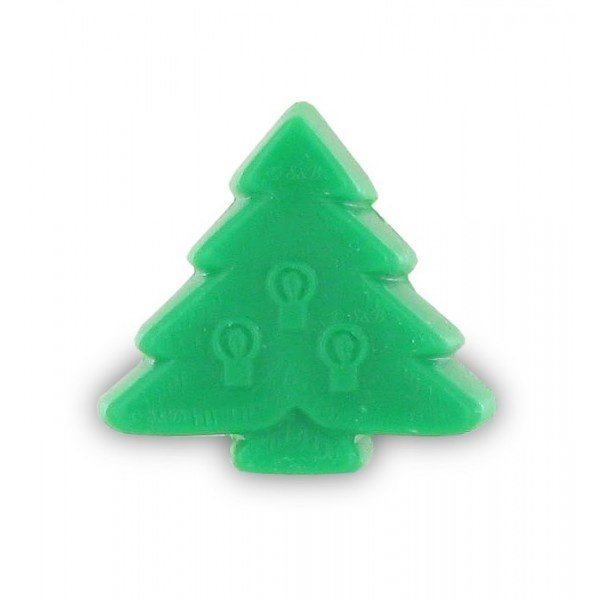 Zeep in de vorm van een kerstboom