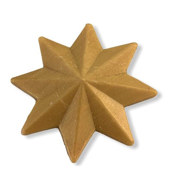 Zeep in de vorm van een ster goudkleurig