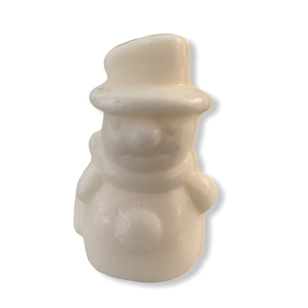 Soap in the shape of a snowman
