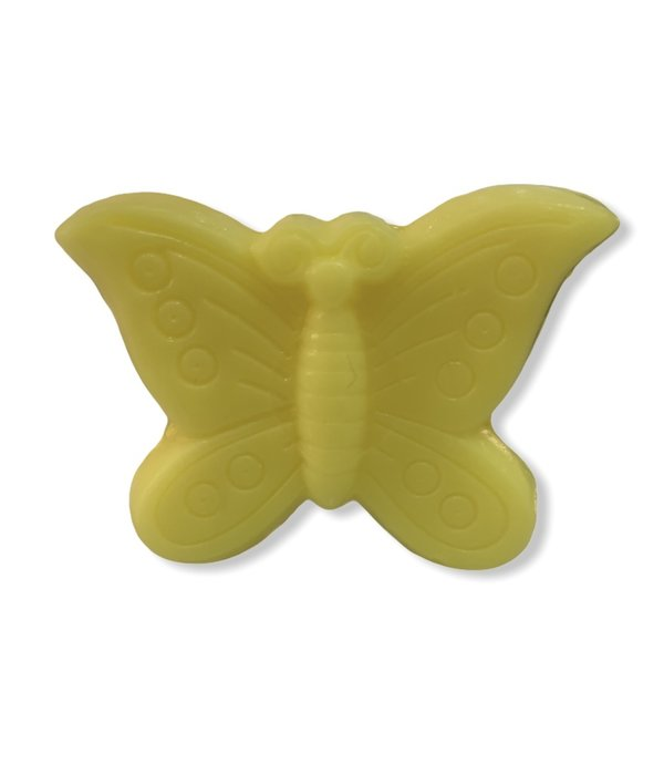 Accentra Bath & Body Soap in the shape of a butterfly yellow