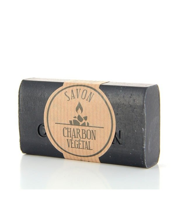 La Savonnette Marseillaise Handmade soap enriched with activated vegetable charcoal 100g