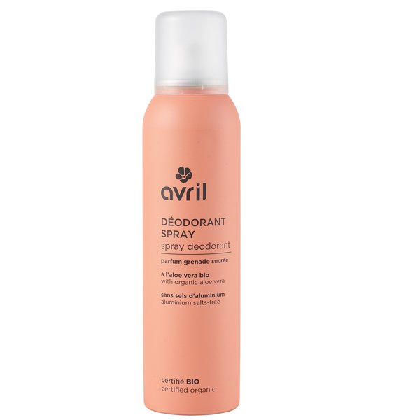 Spray deodorant with organic aloe vera