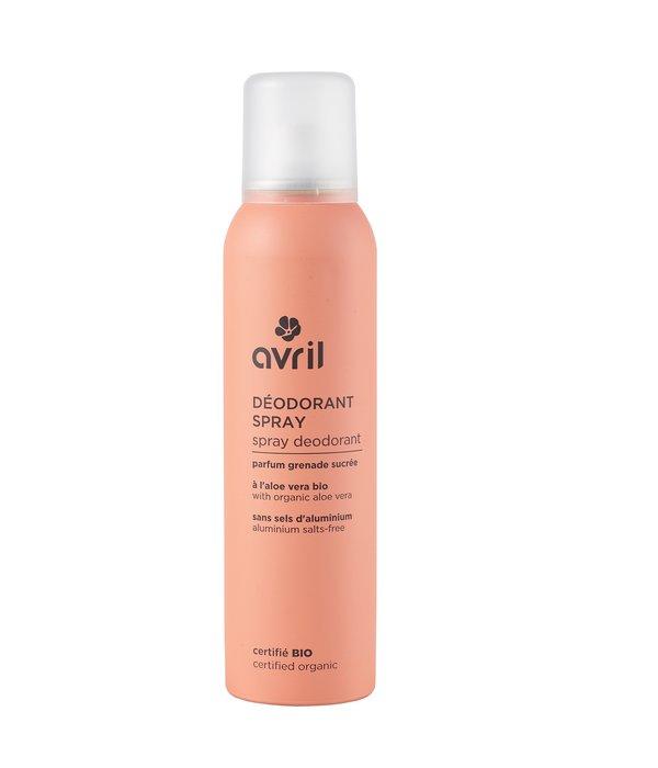 Avril Spray deodorant with organic aloe vera 150ml