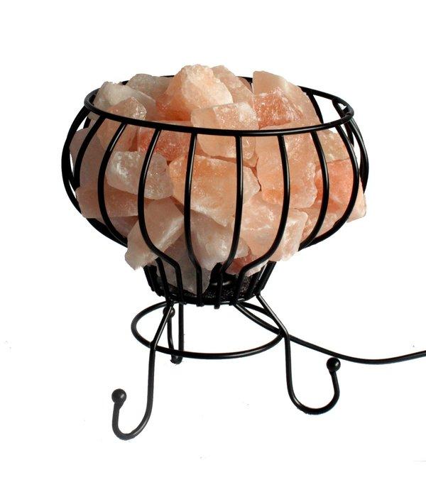 Lamp met roze Himalaya zout
