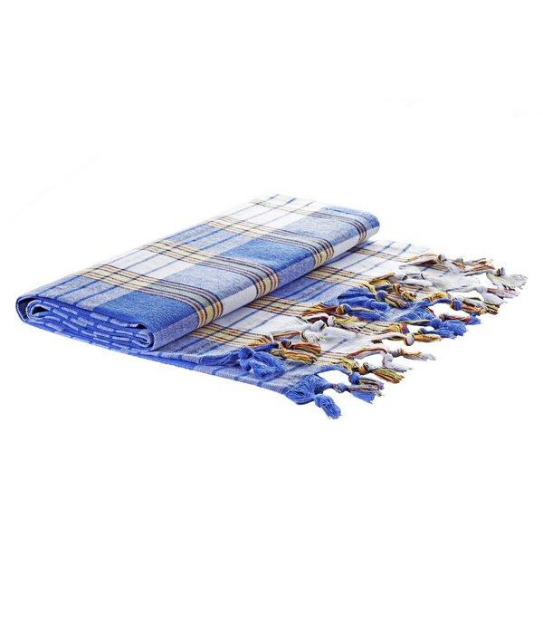 Ottoman Atelier Klassieke blauwe geruite hamamdoek
