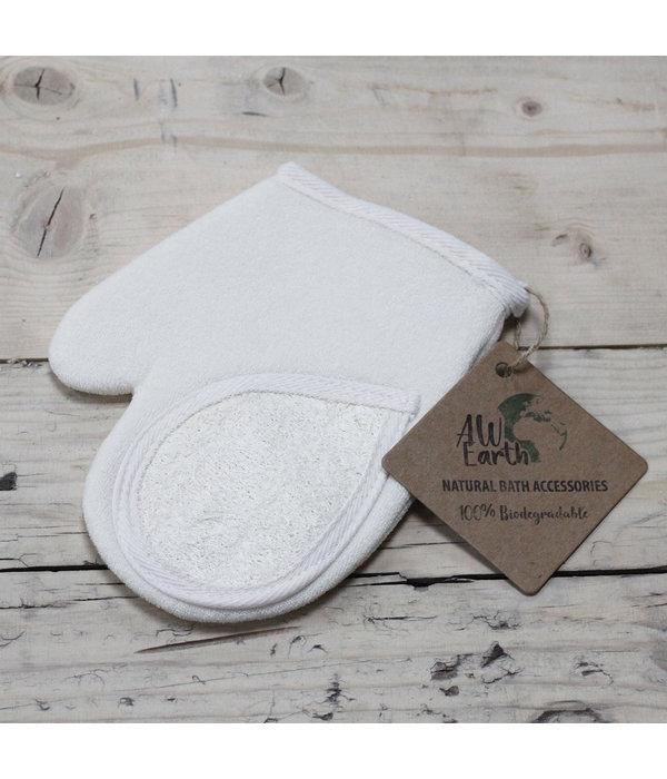 Loofa Handschoen natuurspons 100% natuurlijk