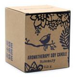 AW Home Aromatherapie Sojakaars met houten lont Rozemarijn