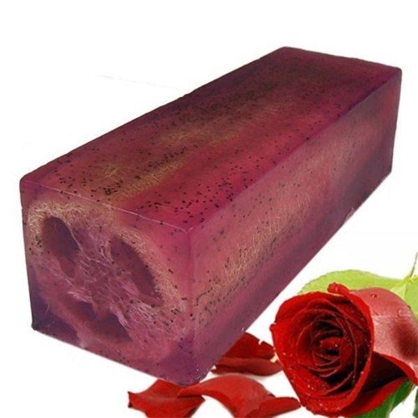 Loofah Soap Slice - Rose