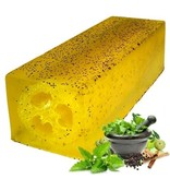 Bathroom Heaven Loofah Soap Slice - Peppermint & Herb Scrub