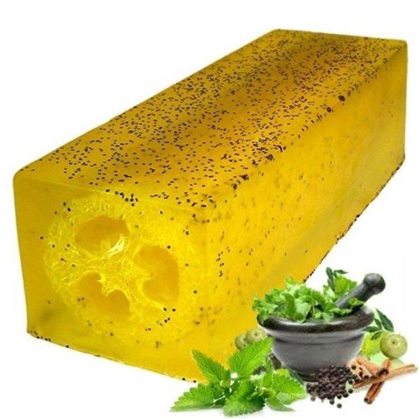 Loofah Soap Slice - Peppermint & Herb Scrub