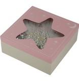 Twinkle Twinkle Star Houten Bewaardoosjein Roze/Blauw