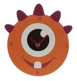 Oranje Monstarz Monster Wandklok