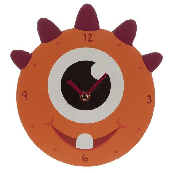Orange Monstarz Monster Picture Clock