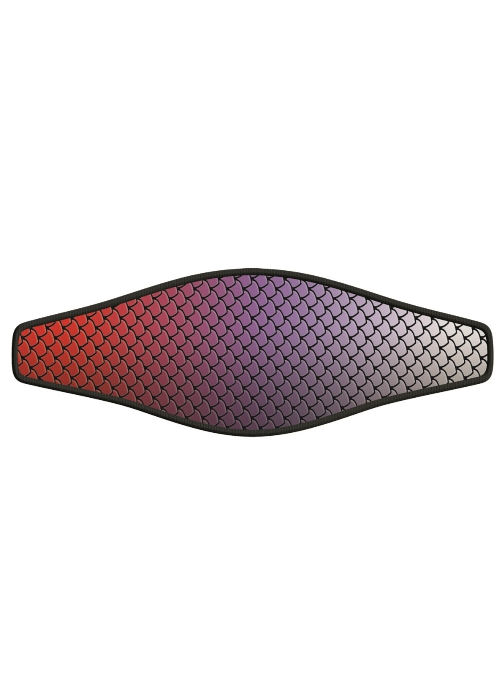 Neopreen Masker band - Fish Skin Red