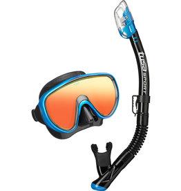 TUSA TUSA Serene Adult Combo (Mirror Lens) - Black/Fishtail Blue