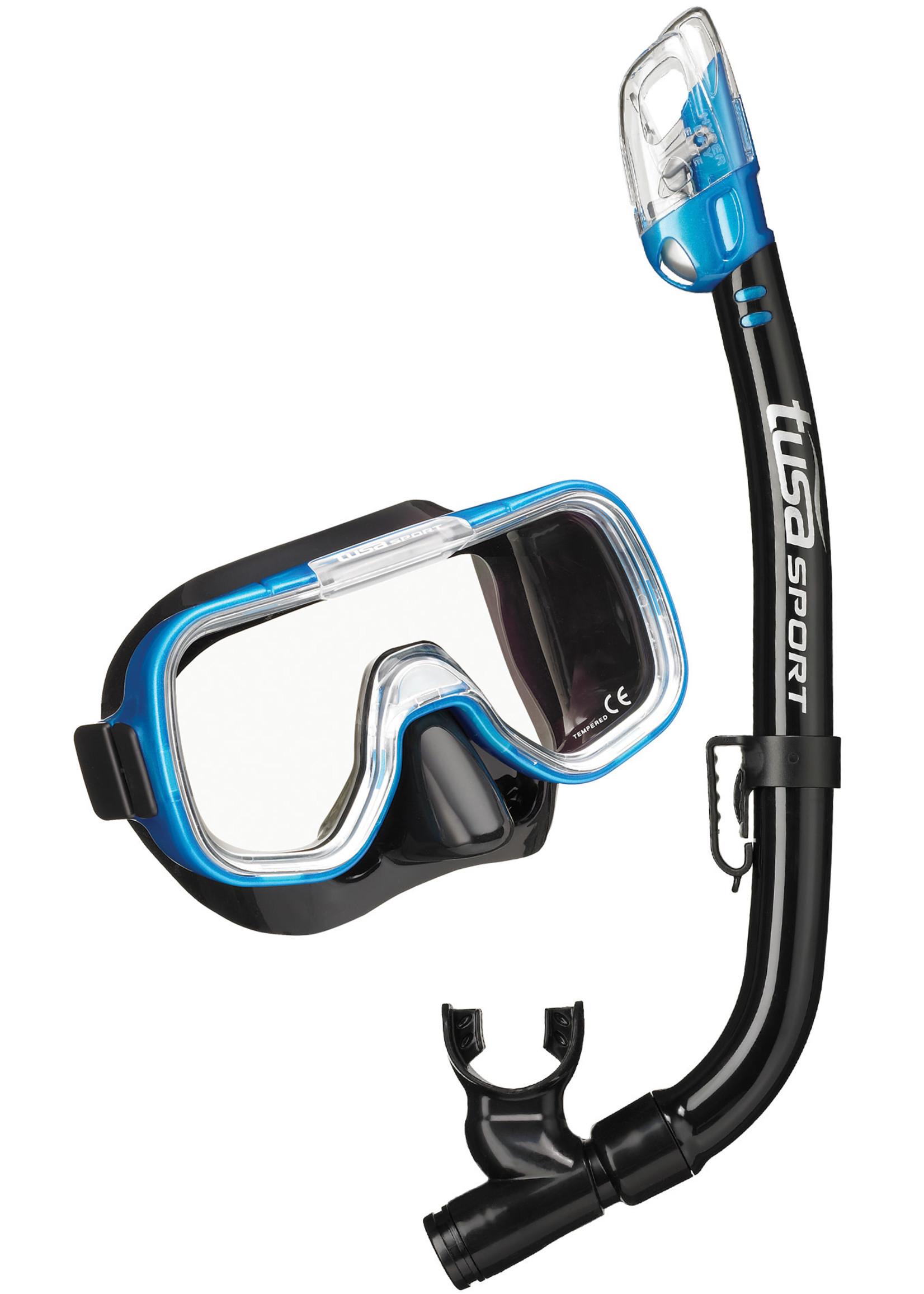 TUSA TUSA Mini-Kleio Youth Dry Combo - Black/Fishtail Blue