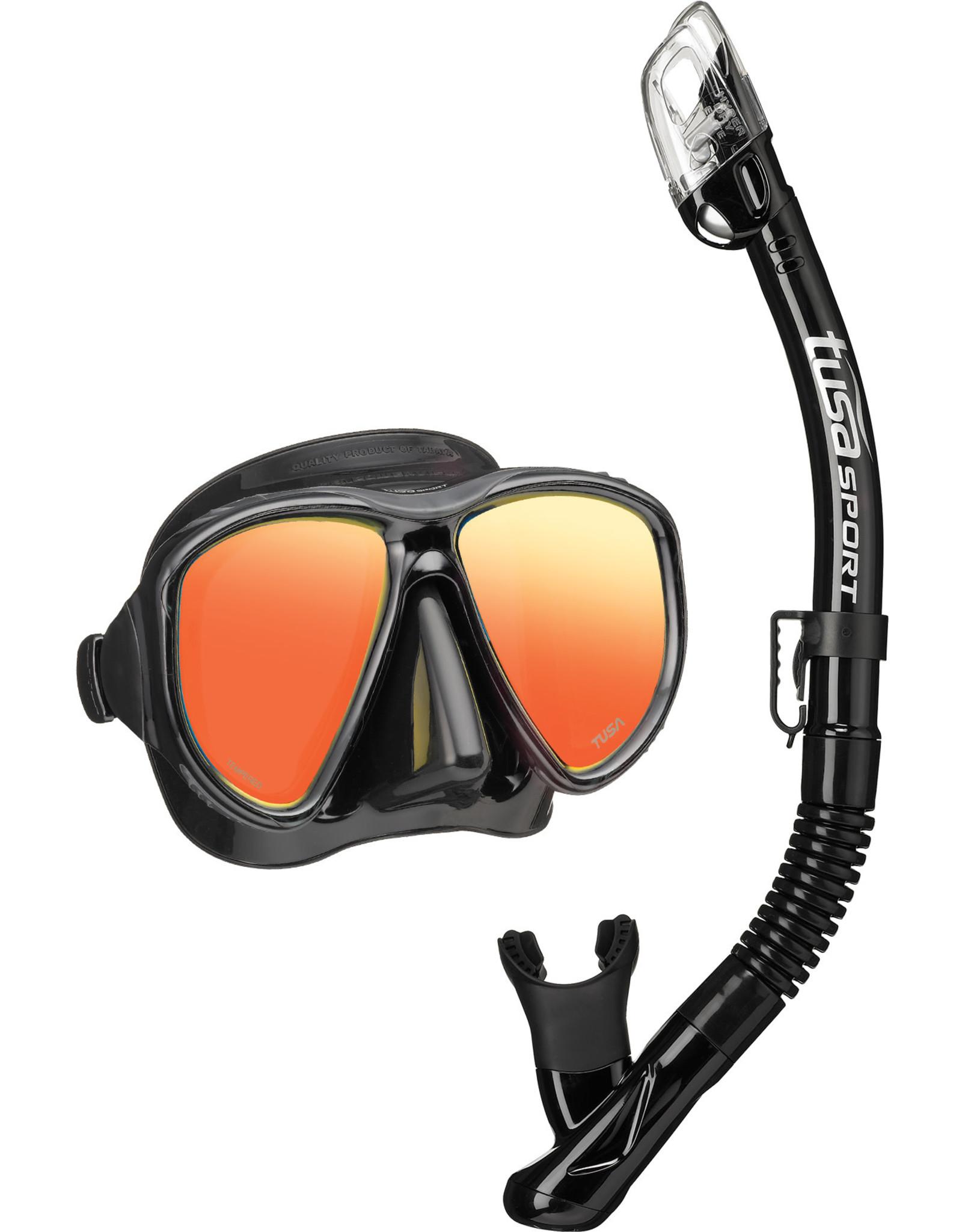 TUSA TUSA Powerview Adult Dry Combo (Mirror Lens) - Black/Black